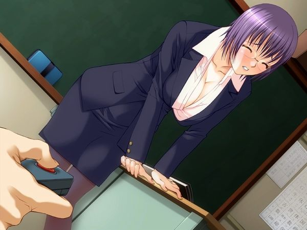 【JK】教室内、黒板の前でエッチな事してる二次エロ画像【女教師】 【25】
