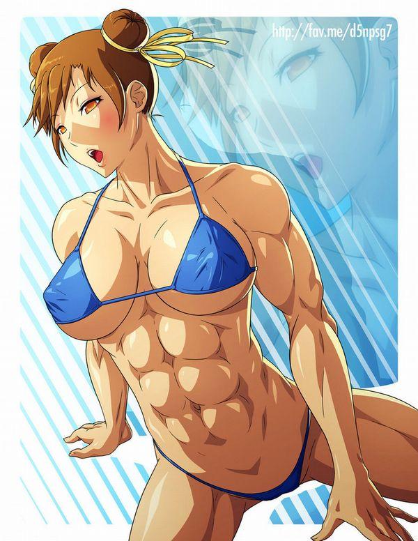 【筋肉女子】腹筋が物凄い割れ方してる女子達の二次エロ画像 【16】