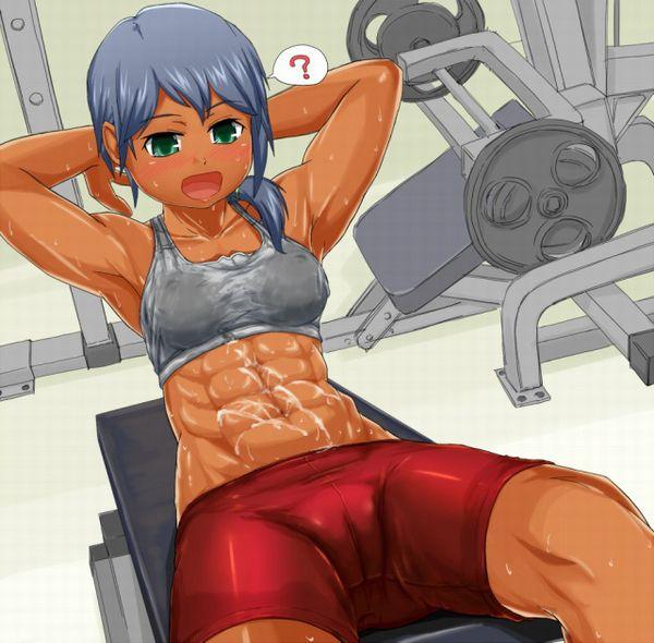 【筋肉女子】腹筋が物凄い割れ方してる女子達の二次エロ画像 【27】
