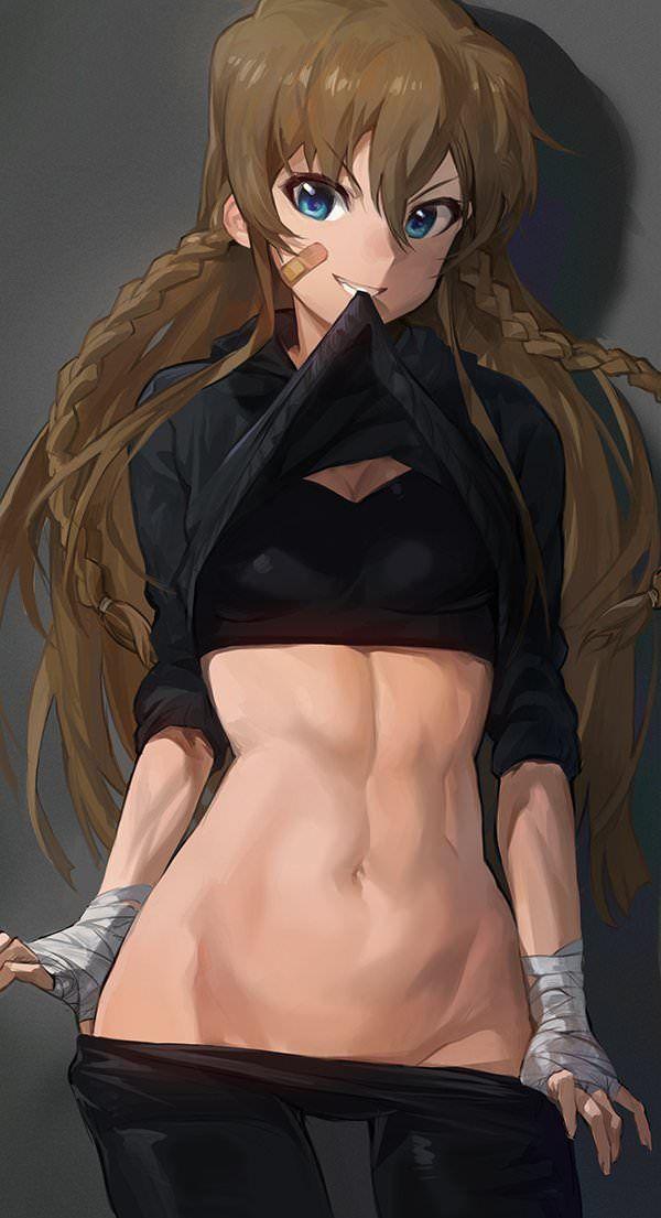 【筋肉女子】腹筋が物凄い割れ方してる女子達の二次エロ画像 【39】