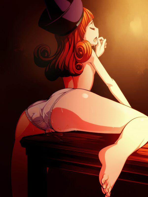 【角オナ】机の角にマンコを擦り付けてオナニーしてる二次エロ画像【14】