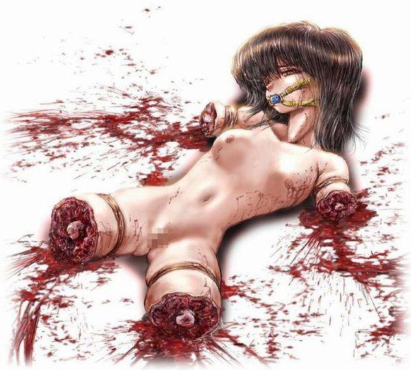 【エグゾディア】女の子が四肢切断されてる真っ最中な二次グロ画像【24】