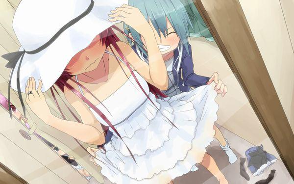 【今日はデート】鏡の前で身だしなみを整えてる二次エロ画像【26】