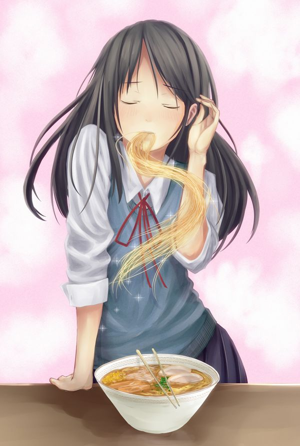 【飯テロ】女の子が美味しそうに食事してる二次画像【12】