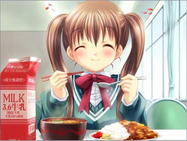 【飯テロ】女の子が美味しそうに食事してる二次画像【22】
