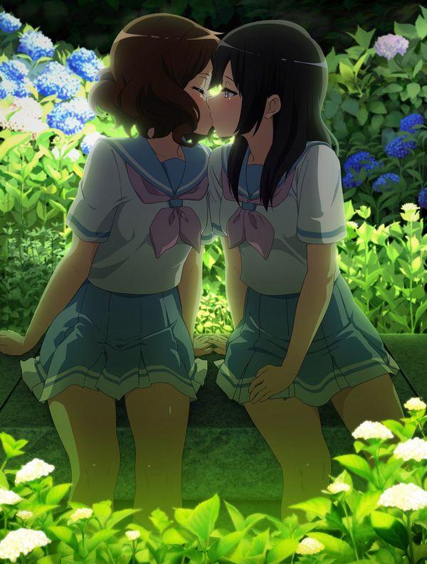 【女子校あるある】学校内でレズってるJKカップルの二次エロ画像【31】
