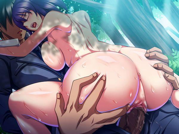 【屋外セックス】カブトムシが居そうな場所で青姦してる二次エロ画像【9】