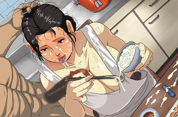 【食ザー】ほかほかご飯にザーメンぶっかけて食ってる上級者向け二次エロ画像