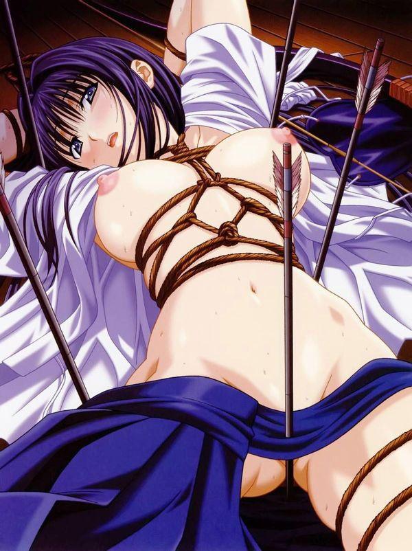 【部活】女子弓道部の袴がそそる二次エロ画像【4】
