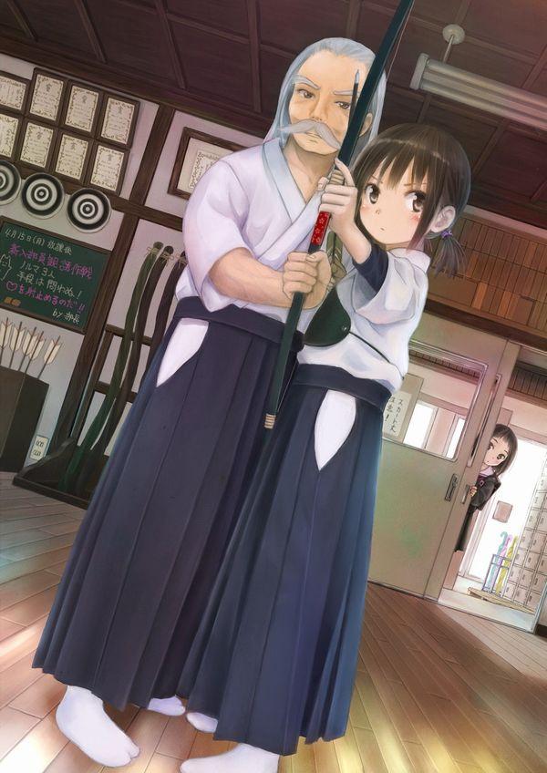【部活】女子弓道部の袴がそそる二次エロ画像【16】