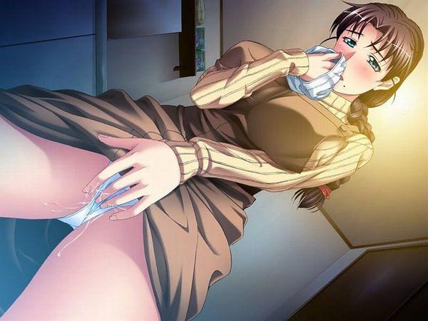 【くんかくんか】好きな人の服とか下着とかの臭いを嗅いでオナニーしてる二次エロ画像【26】