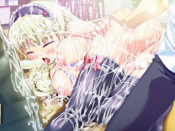 【臭そう】複数人にぶっかけられて全身精液塗れになってる二次エロ画像【11】