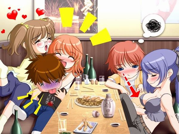 【泥酔】酔っ払ってる女子達の二次エロ画像【ホロ酔い】【9】