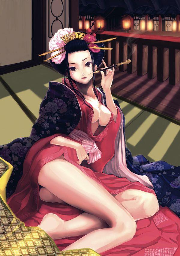 【着物・和服】江戸時代の人ってこんな感じでセックスしてたのかなぁ?って二次エロ画像 【5】