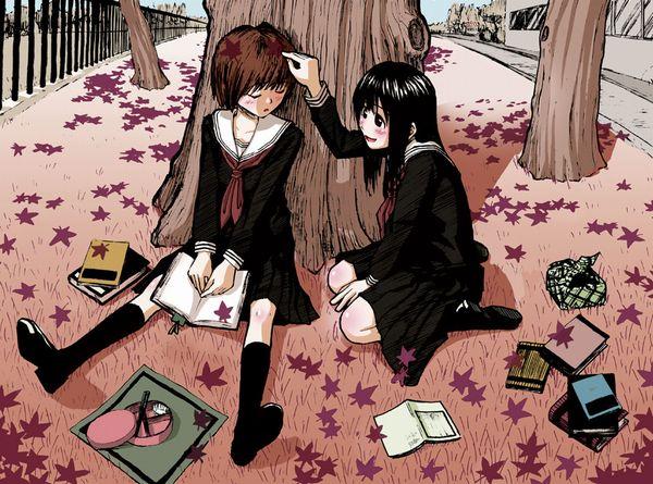 【紅葉】秋っぽい風景と美少女達の二次画像 【2】