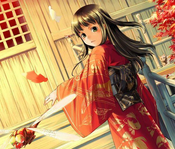 【紅葉】秋っぽい風景と美少女達の二次画像
