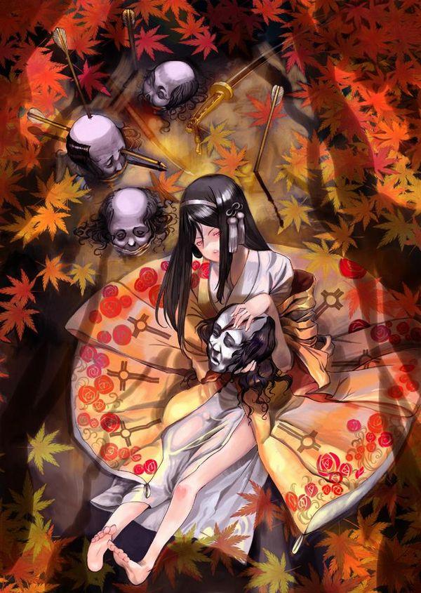 【紅葉】秋っぽい風景と美少女達の二次画像 【4】