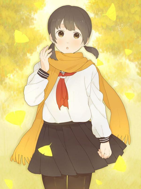 【紅葉】秋っぽい風景と美少女達の二次画像 【5】