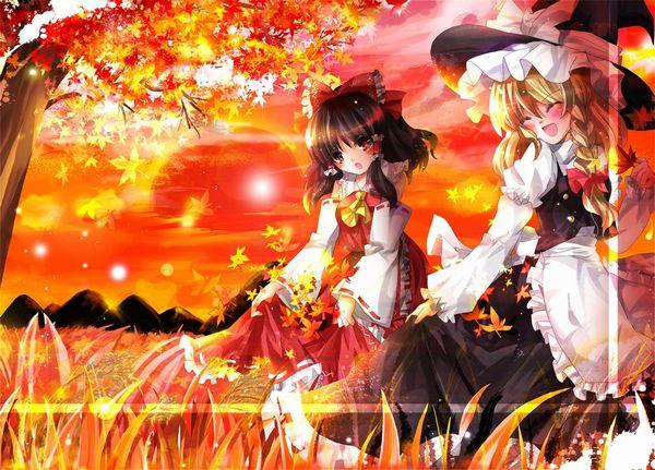 【紅葉】秋っぽい風景と美少女達の二次画像 【7】