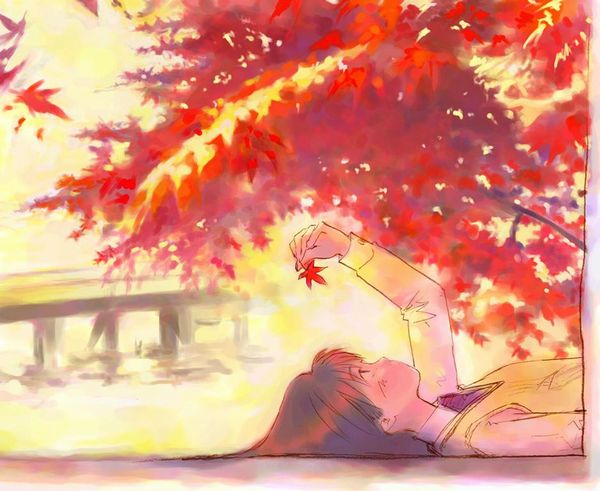 【紅葉】秋っぽい風景と美少女達の二次画像 【8】
