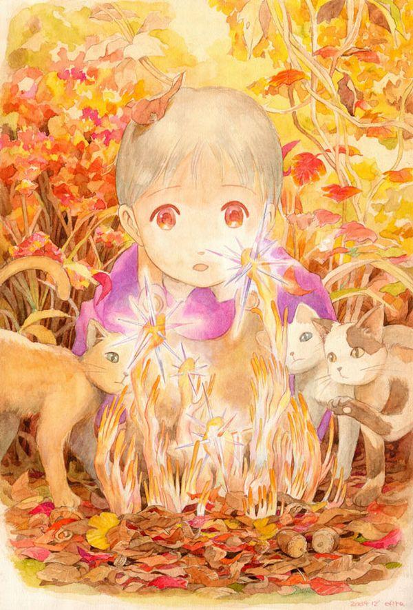 【紅葉】秋っぽい風景と美少女達の二次画像 【10】