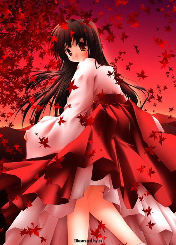 【紅葉】秋っぽい風景と美少女達の二次画像 【12】