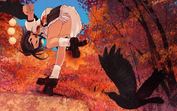 【紅葉】秋っぽい風景と美少女達の二次画像 【26】