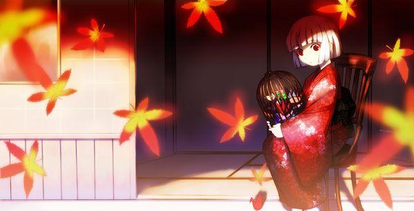 【紅葉】秋っぽい風景と美少女達の二次画像 【29】