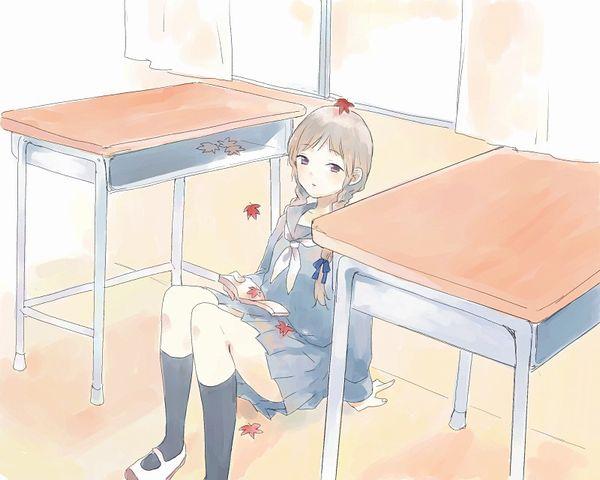 【紅葉】秋っぽい風景と美少女達の二次画像 【31】