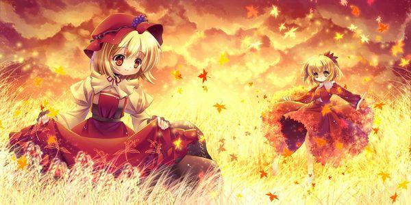 【紅葉】秋っぽい風景と美少女達の二次画像 【32】
