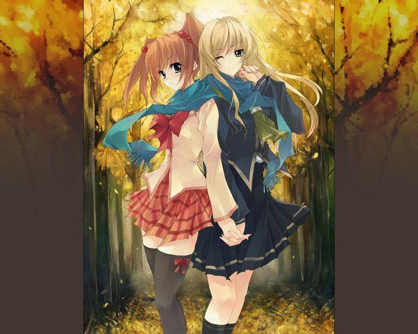 【紅葉】秋っぽい風景と美少女達の二次画像 【36】
