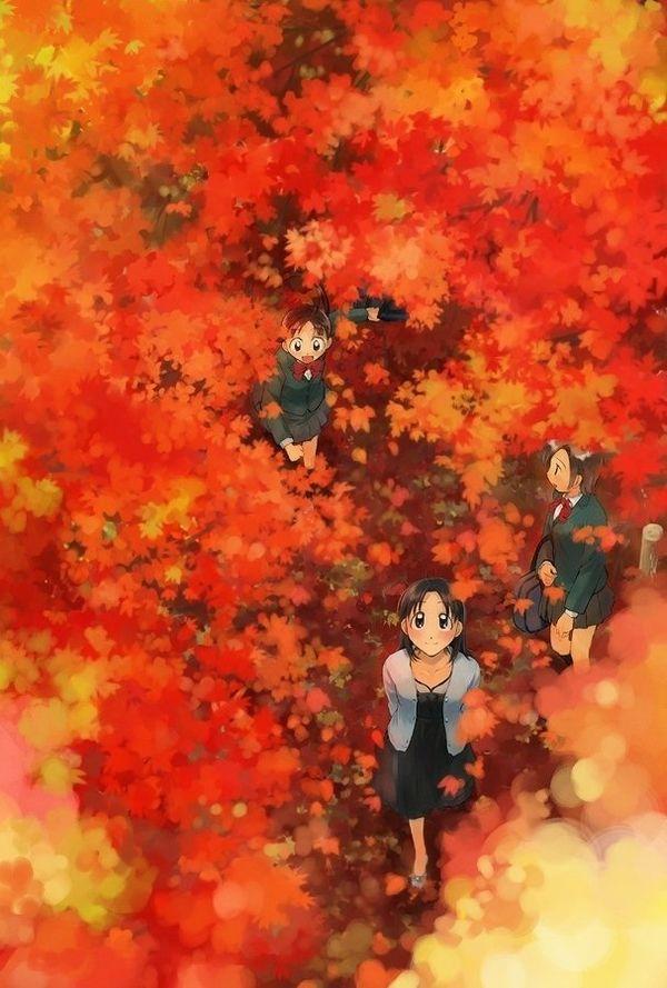 【紅葉】秋っぽい風景と美少女達の二次画像 【37】