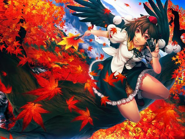 【紅葉】秋っぽい風景と美少女達の二次画像 【40】