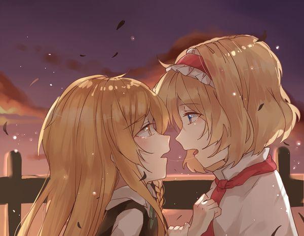 【涎】糸引きキスしてる二次エロ画像 【8】