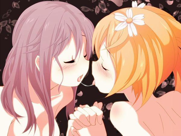 【涎】糸引きキスしてる二次エロ画像 【30】