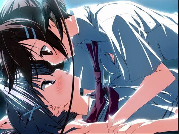 【涎】糸引きキスしてる二次エロ画像 【31】