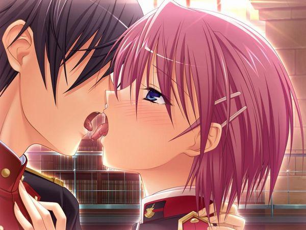 【涎】糸引きキスしてる二次エロ画像 【32】