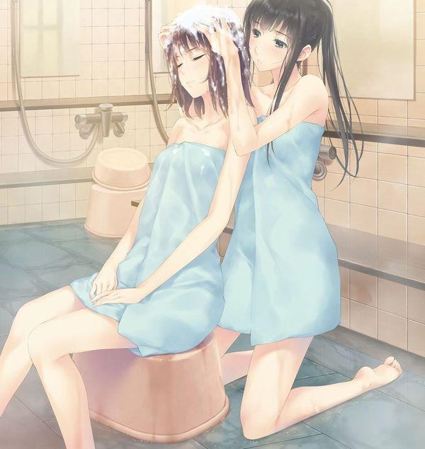 【かゆい所は御座いませんか?】髪の毛洗ってるシャンプー中女子の二次エロ画像 【12】