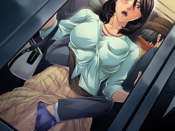 【身動きすら取れない】満員電車で痴漢されてる二次エロ画像 【31】