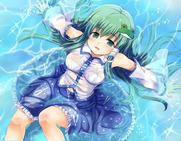 【無防備】水遊びしてたら服が濡れてブラが透けてる二次エロ画像 【27】