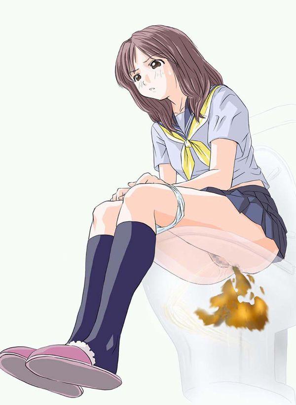 【現実を直視してみよう】女子高生がウンコしてる二次エロ画像 【36】
