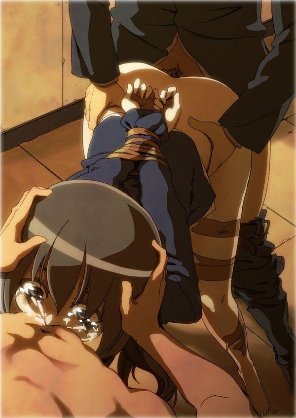 【心が痛む】泣きながら輪姦されてる可哀想な二次エロ画像 【5】