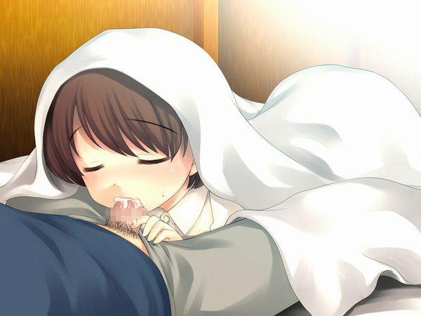 【おはようフェラ】朝にフェラチオで起こしてくれてる二次エロ画像 【5】