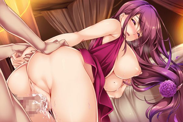 【具が大きい】肛門が見える角度での二次後背位セックス画像 【28】
