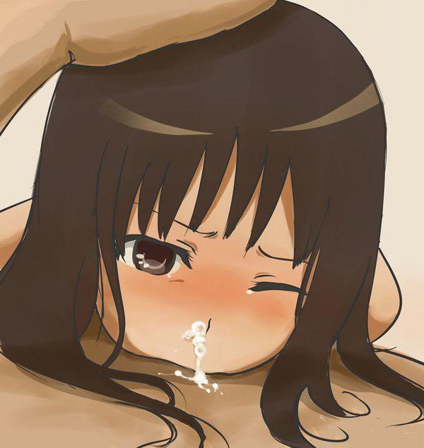 【むせる】鼻からザーメン垂らしてる二次エロ画像 【10】