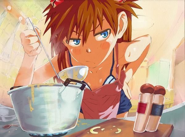 【料理は愛情】料理を作っている最中な女の子達の二次画像 【15】
