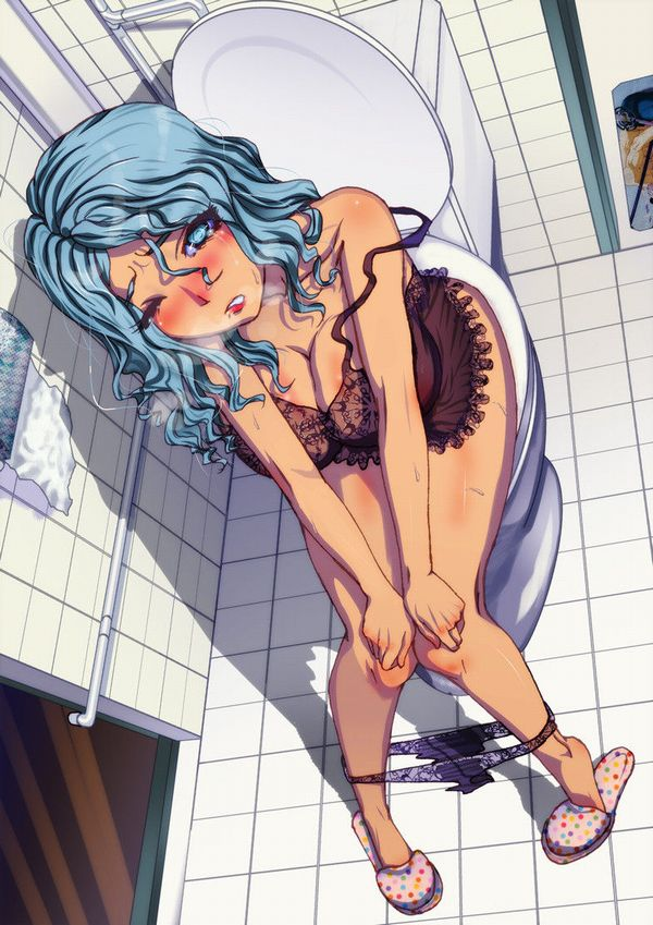 【脱糞】女の子がトイレでウンチしてる排泄二次エロ画像 【4】