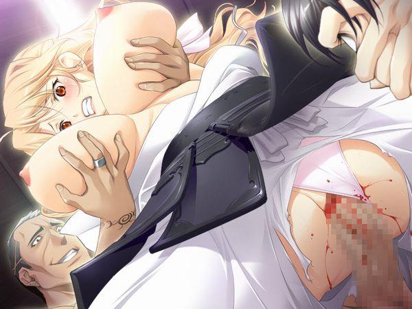 【NTR】彼氏とかが見ている前でレイプされてる悲惨な二次エロ画像 【8】