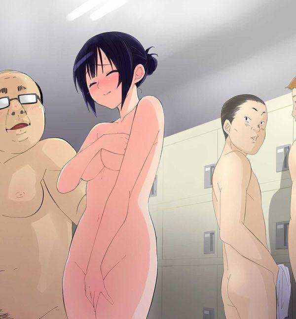 【晒し者】みんなが見ている前で全裸にさせられてる二次エロ画像 【6】