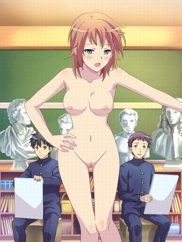 【晒し者】みんなが見ている前で全裸にさせられてる二次エロ画像 【20】